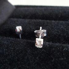 ORECCHINI ORO BIANCO 750 18KT DIAMANTE PUNTO LUCE WHITE GOLD EARRINGS DIAMOND