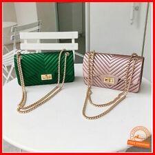 Hochwertiges Design Mini Clutch Damen Taschen Kette Jelly Bag PU Leder Trend