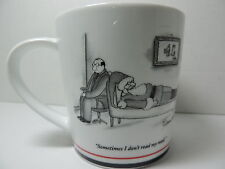 Restoration Hardware NEW YORKER Cartoon: Santa on shrink's couch MUG SANTA 1991