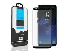 3D Curved Black FULL COVER Tempered Glass Screen Protector For Samsung Galaxy S8