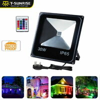30W RGB 16Color Changing LED Security Flood Spot Light Outdoor Garden Yard Lamp