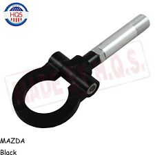 BLACK RACING FRONT REAR TOW TOWING HOOK SCREW ALUMINUM T2 FOR MAZDA 2 5 6 RX-8