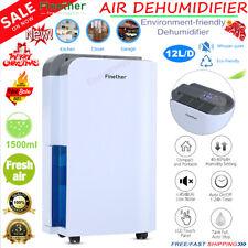 DEHUMIDIFIER 12L AIR PURIFIER DRY MOISTURE DAMP HOME BEDROOM BATHROOM KITCHEN A+