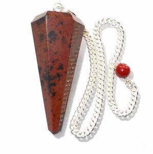 Mahogany Obsidian Dowsing Pendulum Volcanic Glass Crystal Point Healing