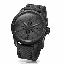 Wryst ES20 Black Swiss Watch with Black Carbon Fiber Bracelet, DLC Black Coating
