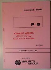 Original Galanti F2 Rhythm Electronic Organ Schematic Diagrams