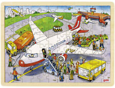 Goki Holzpuzzle Auf dem Flughafen (96 teilig)