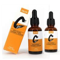 {2-Pack} Vitamin C Facial Serum w/ Hyaluronic Acid Anti-Aging Anti-Wrinkle OALEN