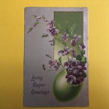 Loving Easter Greetings Vintage Postcard