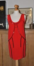 LADIES DESIGNER DIESEL RED PARTY DRESS SIZE XS