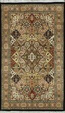 Traditional Hand Knotted Modern Persian Area Rugs Black/Beige Color Size (3 x 5)