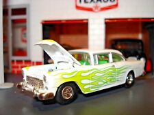 1955 55 CHEVROLET BELAIR LIMITED EDITION 1/64 WHITE POST 60'S STYLE CUSTOM