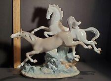 "Vintage 16"" Lladro Figurine-Galloping Horses #4655 Mint-Scarce-Retired 2001-Ae"