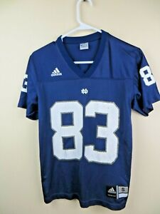 Boys Adidas football Jersey size Small Notre Dame Fighting Irish navy blue #83