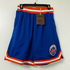 Mitchel Ness Cooperstown Authentic MLB New York Mets Shorts NWT Rare Blue Men's