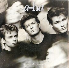 """45 TOURS / 7"""" SINGLE--A-HA / AHA--STAY ON THESE ROADS / SOFT RAINS OF APRIL--88"""