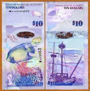 Bermuda, $10, 2009, Hybrid, P-59, First Prefix Onion, QEII, UNC