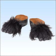 Gorilla Füße zum Überziehen Affenfüße Gorillafüße Schuhe Tierkostüm