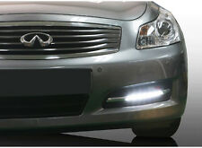 LED Daylight Running Fog Light Lamp DRL Assy + Cover LH RH For 2008 Infiniti G35