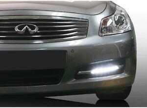LED Daylight Running Fog Light Lamp DRL Assy + Cover LH RH For 2008 Infiniti G35