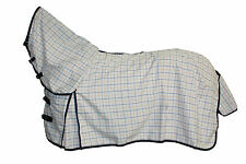 AXIOM POLYCOTTON BLUE & YELLOW RIPSTOP UNLINED HORSE COMBO RUG 6'3
