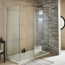 Premier Wetroom Shower Screen 1850 x 700mm with Support Bar - 8mm Safety Glass