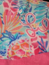 Nwt Lilly Pulitzer Gwp Critter Clam Beach Towel Rainforest Retreat Pink Blue