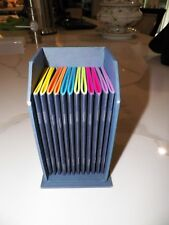 LEVINGER 12 MULTI COLOR NOTE PAD BOOKS PURSE SIZE IN STAND