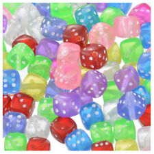 100x Mixed Transparent Acrylic Dice Spacer Beads 8*8mm V1T3