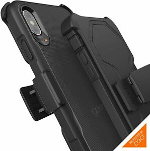 GEAR4 Platoon Designed for iPhone XS Max Case with Holster D3O - Black