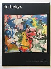 Sotheby's Catalog - WILLEM DE KOONING - UNTITLED V - 1st Edition 11/13/2013