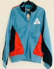 0282bd1ded11 Palace P-Knit Tri Funnel Zip Up Jacket in Blue Navy Cayenne~