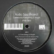 """AUDIO SOUL PROJECT ~ Community / Everything Is Alright (PART 2) ~ 12"""" Single"""