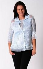 Ladies Ice Blue Shirt &Top twin set Ruch Lace & ruffle Size M/12 New rrp$85 SAVE