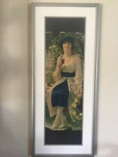Coca Cola Calendar Lady In Blue Dress. 1921, Very Rare. Has some edge to it.