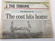 Oakland Tribune Newspaper San Francisco 1989 Earthquake Special Edition