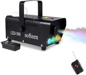 Fog Mist Maker Party Mister Smoke Machine LED Lights Stage Effect Wireless