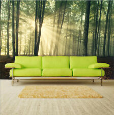 Self-adhesive Forest Tree Sunlight 3D Wallpaper for Living Room Wall Paper Mural