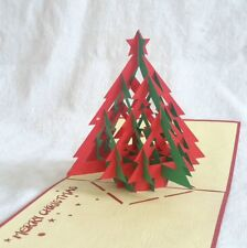 CHRISTMAS TREE #1 pop-up greeting card (beautiful & unique gift/decor/art)