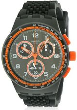 Swatch NEROLINO Silicone Chronograph Mens Watch SUSB408