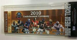 "2010 Canton Football Hall Of Fame Mini Mini Mega Ticket 5 x 14"" Jerry Rice DM1"