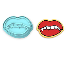 Vampire Lips Cutter & Stamp   Halloween Grin Spooky Fangs Dracula October Smile