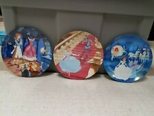Set Of (3) Edwin M. Knowles Disney Cinderella Plates