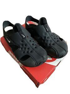 Nike Kids Sunray Black Sandals 12c