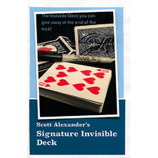 SIGNATURE INVISIBLE DECK - SCOTT ALEXANDER - SEE VIDEO  - NEW!