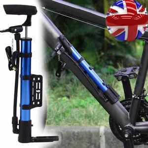 Mini Bike Pump Portable Bicycle Tyre Inflator Hand Tool Schrader Presta Valve UK