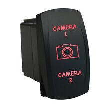 Rocker switch 6B10R2 12V CAMERA 1 CAMERA 2 Laser LED red on-off-on 12V 20A