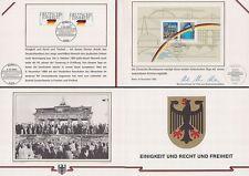 Erinnerungsblatt (Minister) Deutsche Einheit, Maueröffnung(MiNr.1477-78+Block22)