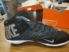 New Nike Zoom Code Elite 3/4 Td Black/silver Football Cleats Size 14.5