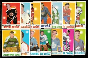 1970-71 OPC 70 O PEE CHEE HOCKEY CARD + ERROR & VARIATION + STAMP 1-132 SEE LIST
